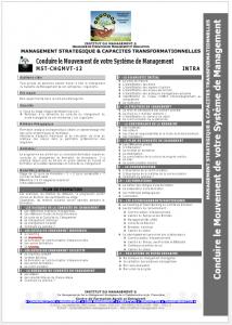 MST-CHGMVT-12 - Conduire le Mouvement de votre Système de Management